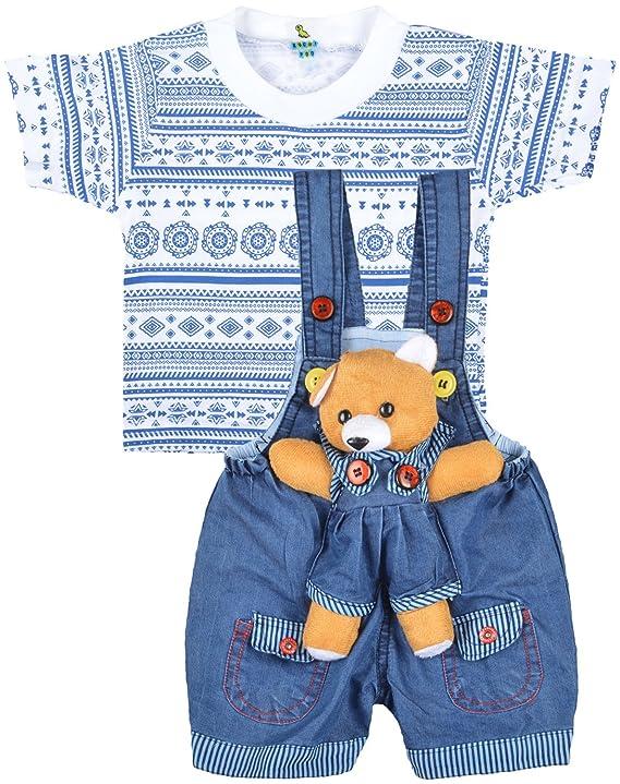 31387fb50 Kuchipoo Unisex Regular Fit Cotton Dungaree: Amazon.in: Clothing &  Accessories