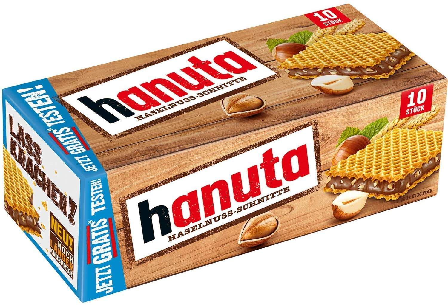 Ferrero Hanuta Wafers Filled with Hazelnut Cream (10 Pcs Box)