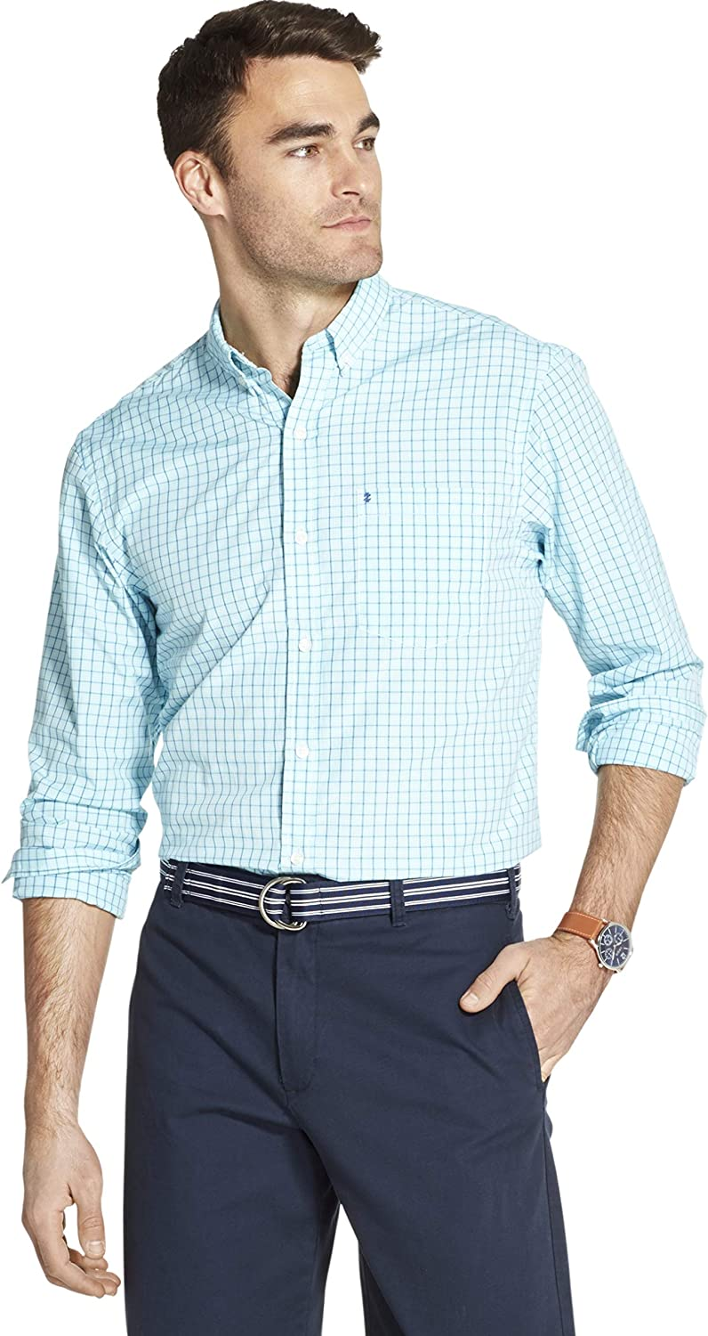 IZOD Men's New products, world's highest quality popular! Breeze Long Sleeve Down Shirt Plaid Cash special price Button