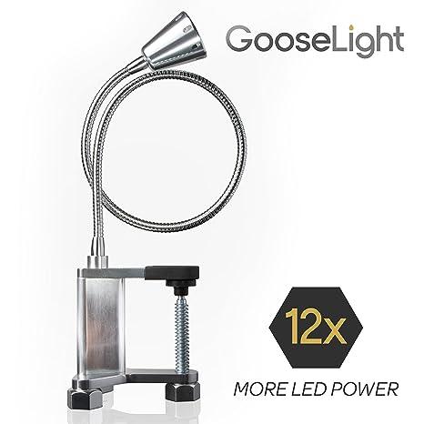 Livin Well Luz magnética ajustable de trabajo LED - Luz portátil de Barbacoa de GooseLight