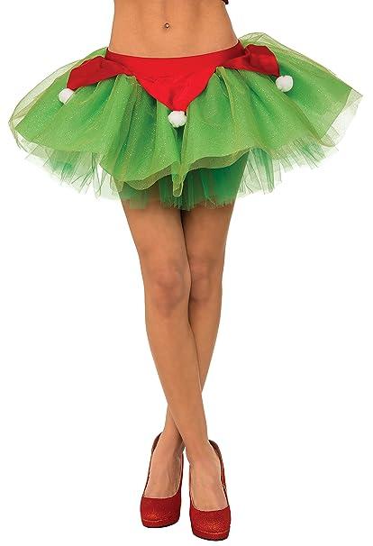 df25ec980d6f Amazon.com: Rubie's Women's Ms. Elf Tutu Skirt, Multicolor, Standard ...