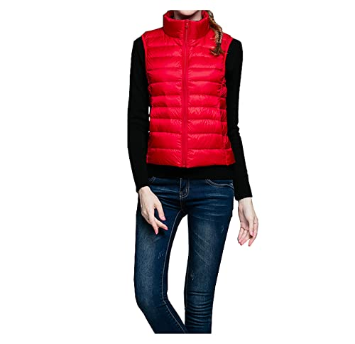 chaleco de plumón mujer sin manga chaleco corto abrigo stand collar