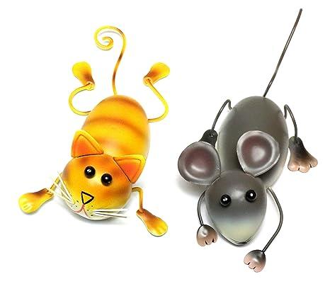 Imanes 3D | Gato & Ratón Magnético Big Smile Funny Ant | Hogar, Cocina y