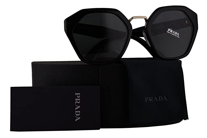 2d6133be5a ... where to buy prada authentic sunglasses pr04ts shiny black w grey lens  1ab1a1 spr04t 55mm 07fb4