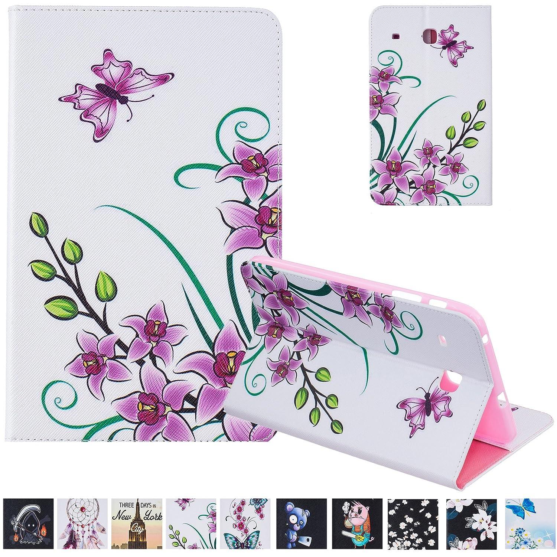 Galaxy Tab E 8.0インチケース、uucoversフォリオスタンド[コーナー保護]レザーケース伸縮性ストラップ、カードスロットfor Butterfly Galaxy Samsung Galaxy Tab Pink E 8.0 t375/ t377 03 Pink Butterfly B01N8YDA3E, 楽山荘:c6192aaa --- cooleycoastrun.com