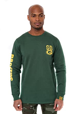 7623cf47 Ultra Game NFL Green Bay Packers Men's Fleece Sweatshirt Long Sleeve Shirt  Reflective, Team Color, Green, Large