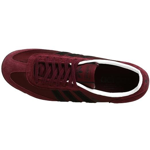 d2f2d5a95cdf7 Amazon.com   adidas Originals Men's Jogging Sneaker, Maroon/Black/White, 4  M   Fashion Sneakers
