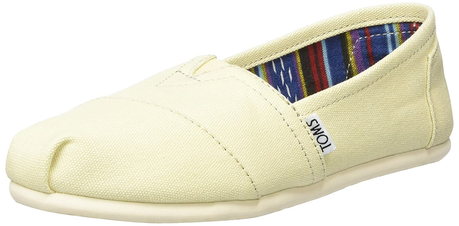 TOMS Women's 10005417 Dk Grey Stripe University Alpargata Flat