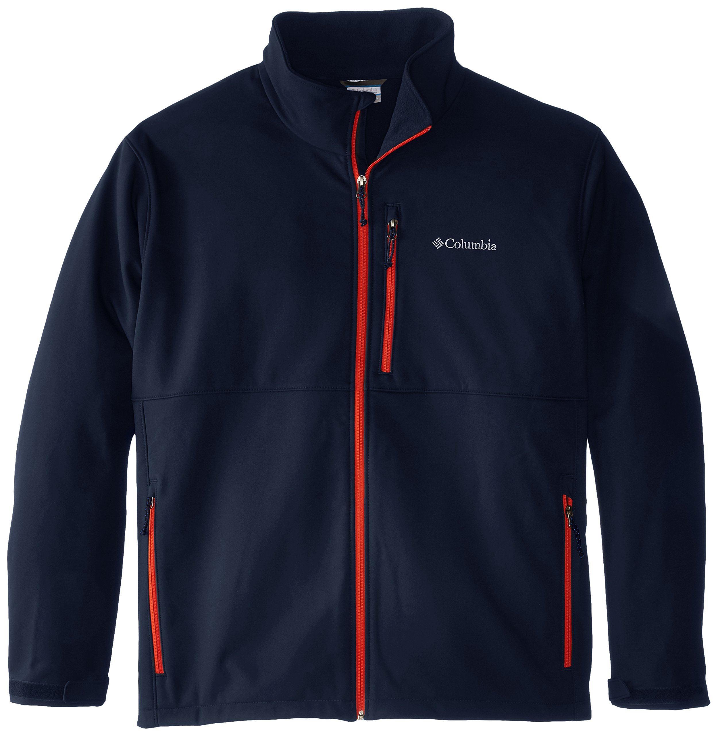 Columbia Men's Ascender Big and Tall Softshell Jacket, Collegiate Navy/Mountain Red, 4X