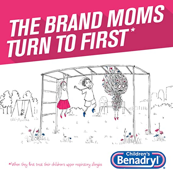 Amazon Com Children S Benadryl Dye Free Allergy Liquid Diphenhydramine Hcl Bubble Gum 4 Fl Oz Health Personal Care