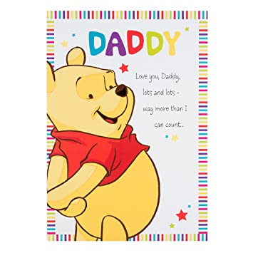 Hallmark - Tarjeta de felicitación Daddy Winnie the Pooh ...