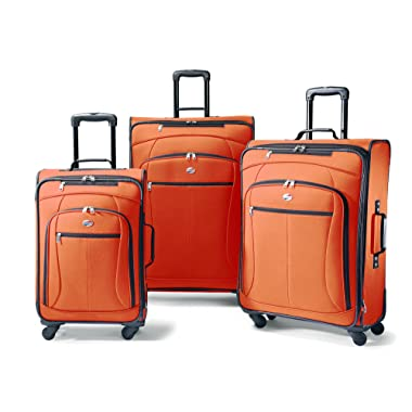 American Tourister Luggage AT Pop 3 Piece Spinner Set (One Size, Orange)