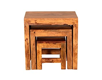 Ringabell Solid Wood Nesting Tables (Mahogany)