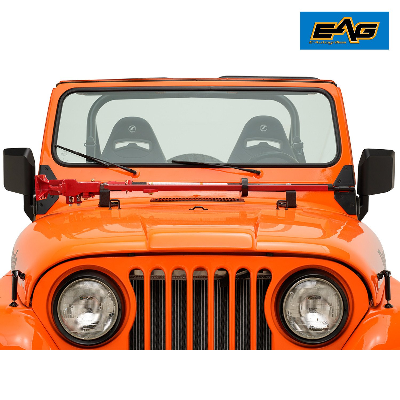 Xjmoto Hi Lift Jack Mount Hood Bracket Fits Jeep Wrangler Cj 1944 On 1986 Yj 1987 1995 Tj 1997 2006 Christmas Holiday