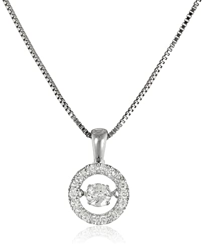 Amazon dancing diamond circle pendant necklace 13cttw i j dancing diamond circle pendant necklace 13cttw i j color i2 i3 mozeypictures Image collections