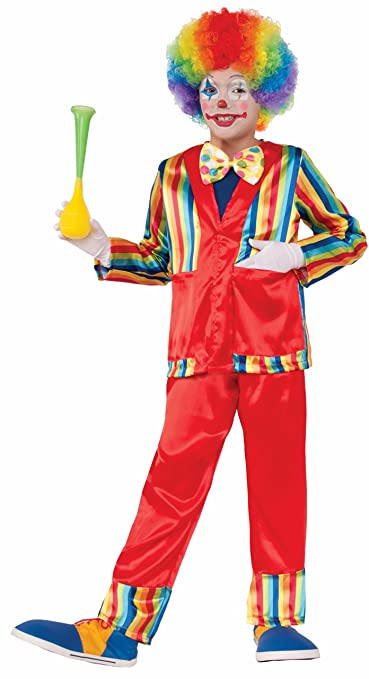 Forum Novelties Kids Funny Business Clown Costume, Multicolor, Large