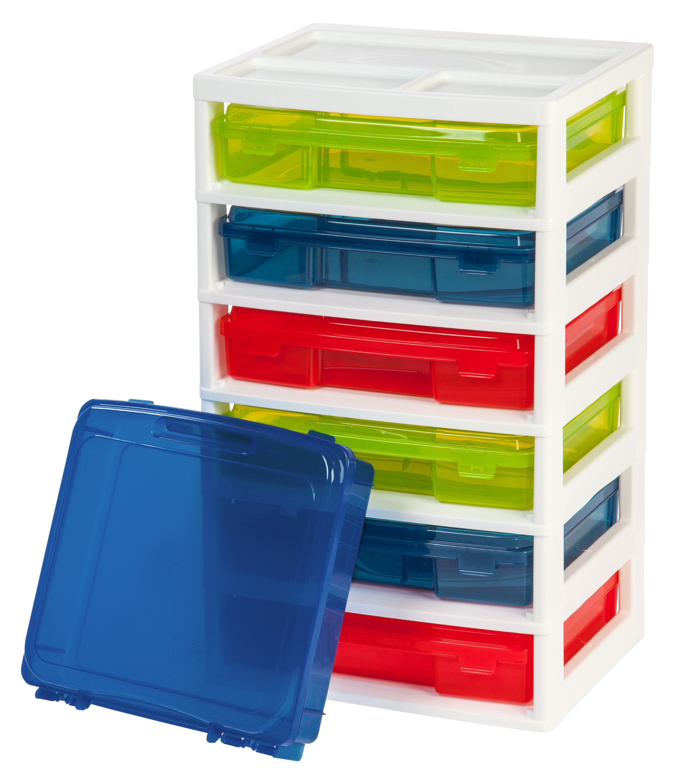 IRIS 6-Case Activity Chest with Organizer Top, Assorted Colors by IRIS USA, Inc.