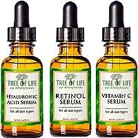 Flawless. Younger. Perfect. Anti Aging Serum Combo Pack - Vitamin C Serum - Retinol Serum - Hyaluronic Acid Serum - Anti Wrinkle Complete Regimen - Highly Natural And Organic Serums