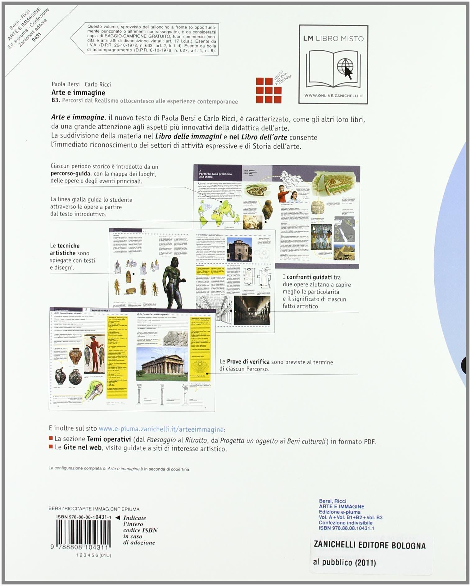 Arte E Immagine Vol A B1 B2 B3 Ediz Piuma Per La Scuola Media