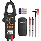 Multimeter, Tacklife CM01A Clamp Meter 4000 Counts Auto-Ranging Digital Tester with NCV, AC/DC Voltage, Current, Ohm, Continuity Electrical Tester, Diode, Resistance,Capacitance Meters
