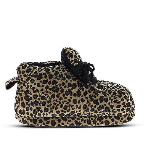 Sleeperz - Zapatillas de casa Originales y Divertidas de Mujer - Leopard - 39