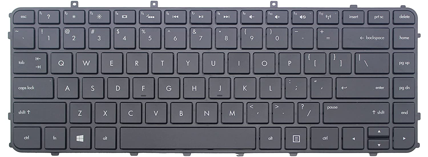 Laptop replacement keyboard with frame compatible with HP ENVY Ultrabook 4-1005xx 4-1015dx H4-1017nr 4-1019wm 4-1030ca 4-1030us 4-1038nr 4-1043cl 4-1050ca ...