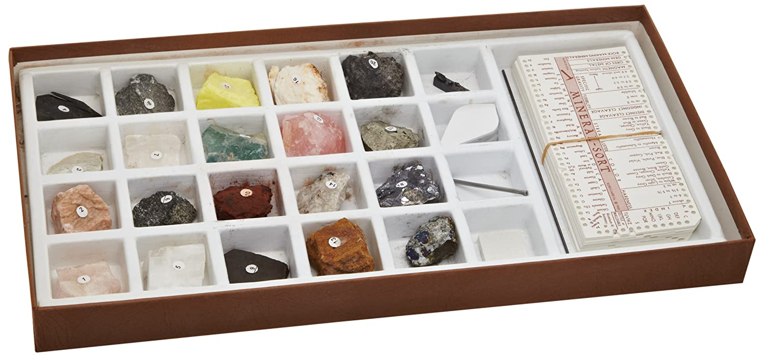 Mineral Identification Kit, Rock Samples for Studying Geology and Earth Science (Set of 20): Industrial & Scientific