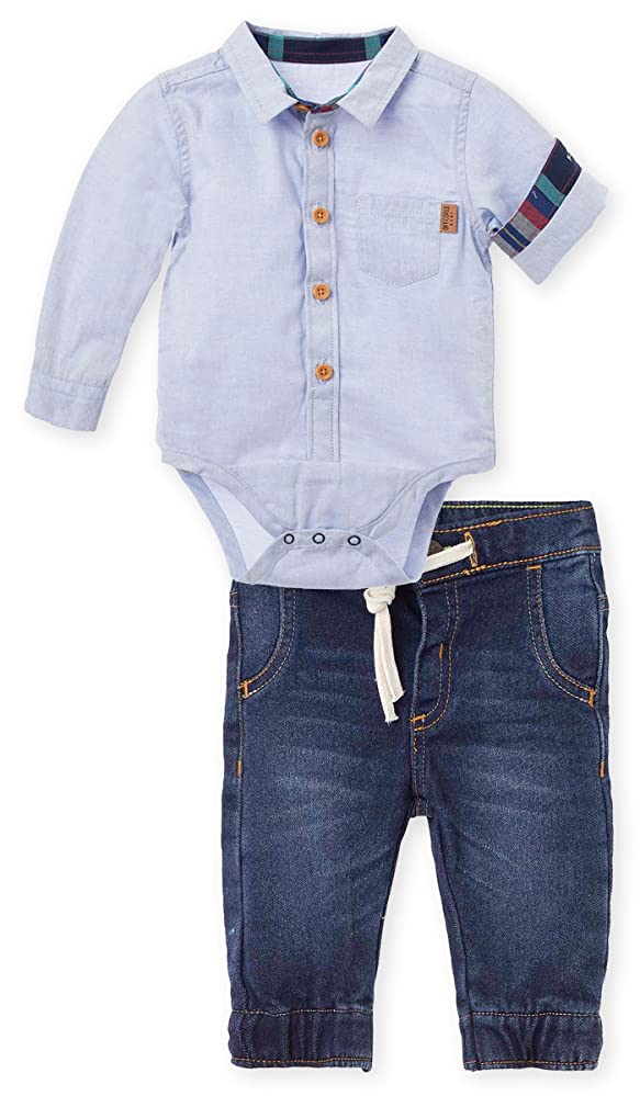 777051cde OFFCORSS Jeans Outfits Button Long Sleeve Bodysuit Baby Boy Conjunto Bebes  Niño