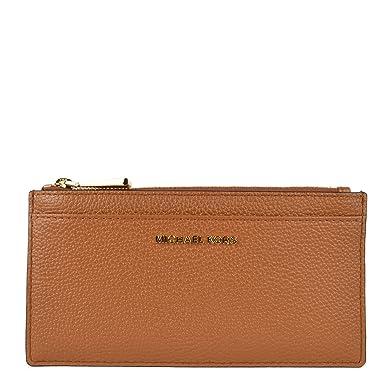 90c1bed00925 MICHAEL by Michael Kors Money Pieces Acorn Leather Slim Card Case one size  Acorn  Amazon.co.uk  Clothing