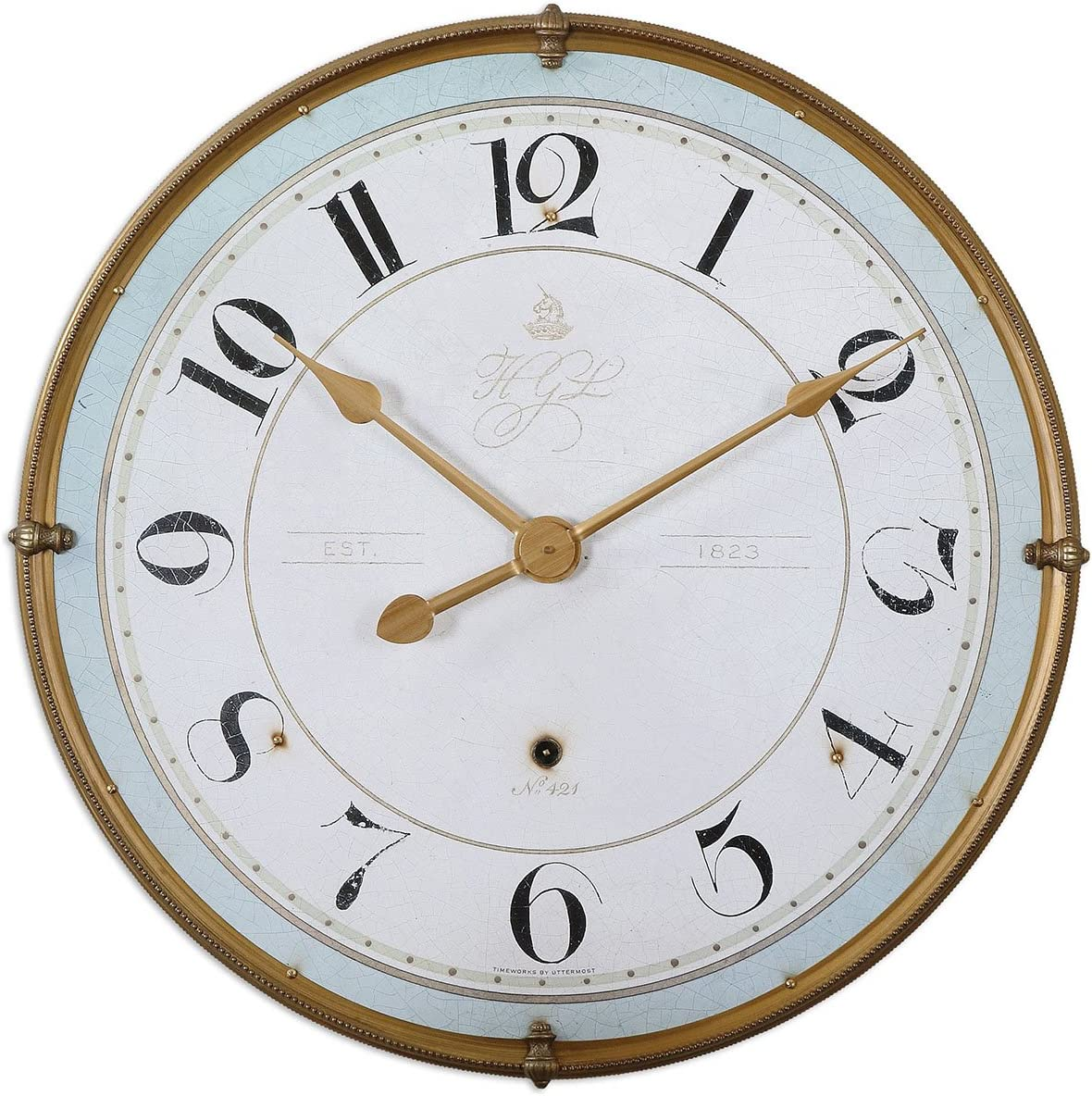 Uttermost 06091 Torriana Wall Clock, White