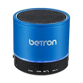 Betron KBS08 Wireless Portable Travel Bluetooth Speaker Blue