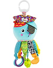LAMAZE Captain Calamari, Clip on Pram and Pushchair Newborn Baby Toy, Sensory Toy for Babies Boys and Girls from 0 to 6 Months