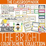 Color Scheme Decor Pack: Bright Primary Colors Collection (Student and Teacher Printables, Calendar Set, Labels, Birthday an