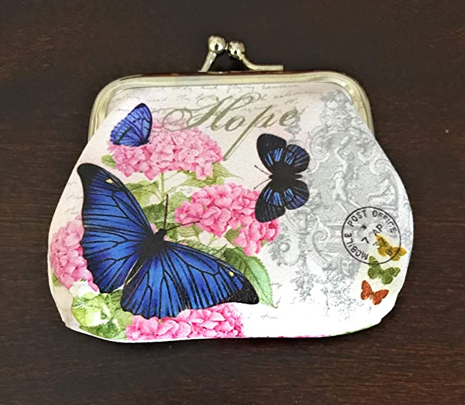 Amazon.com: Value Arts - Monedero con diseño de mariposa ...