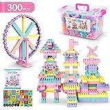 ブロック 積み木 知育玩具 想像力と創造力を育てるオモチャ 立体パズル モデルDIY建物 おもちゃ 虹色の積み木 誕生日 入園 ギフト プレゼント 収納ケース付き 虹色