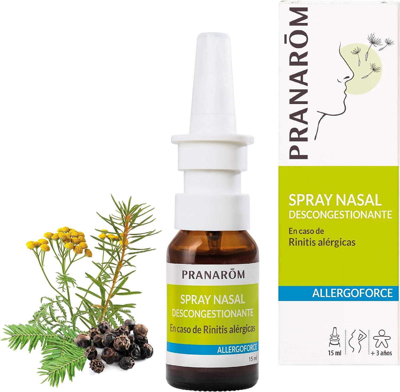 Pranarôm - Allergoforce - Spray Nasal - Nariz Tapada Por el Polen, Polvo, los ácaros