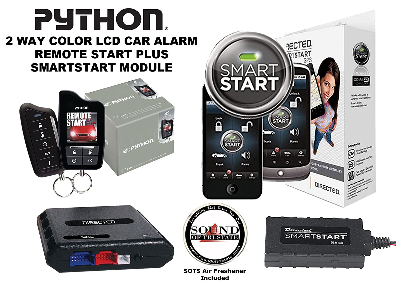 Amazon.com: Python 5906P Two-Way Security and Remote Start System and  XpressKit DBALL2 Databus All Interface Module with Directed DSM350 SmartStart  Module ...