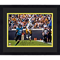 "$160 » Framed JuJu Smith-Schuster Pittsburgh Steelers Autographed 16"" x 20"" In Air Catch Photograph - Fanatics Authentic Certified"