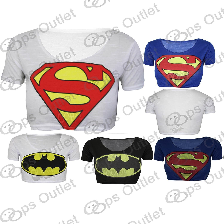 superman t shirt damen bauchfrei