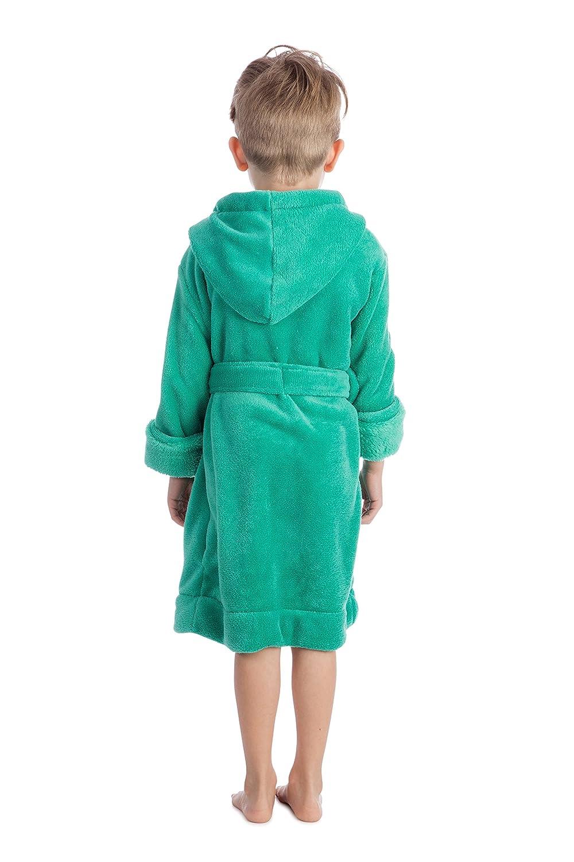Giallo Blu Verde Grigio con Cappuccio e Cintura Rosa Colori: Nero Bambini Vestaglia Elowel Bambine 14 Anni Bianco Rosso Viola 100/% Poliestere Ragazzi 2 Anni Ragazze