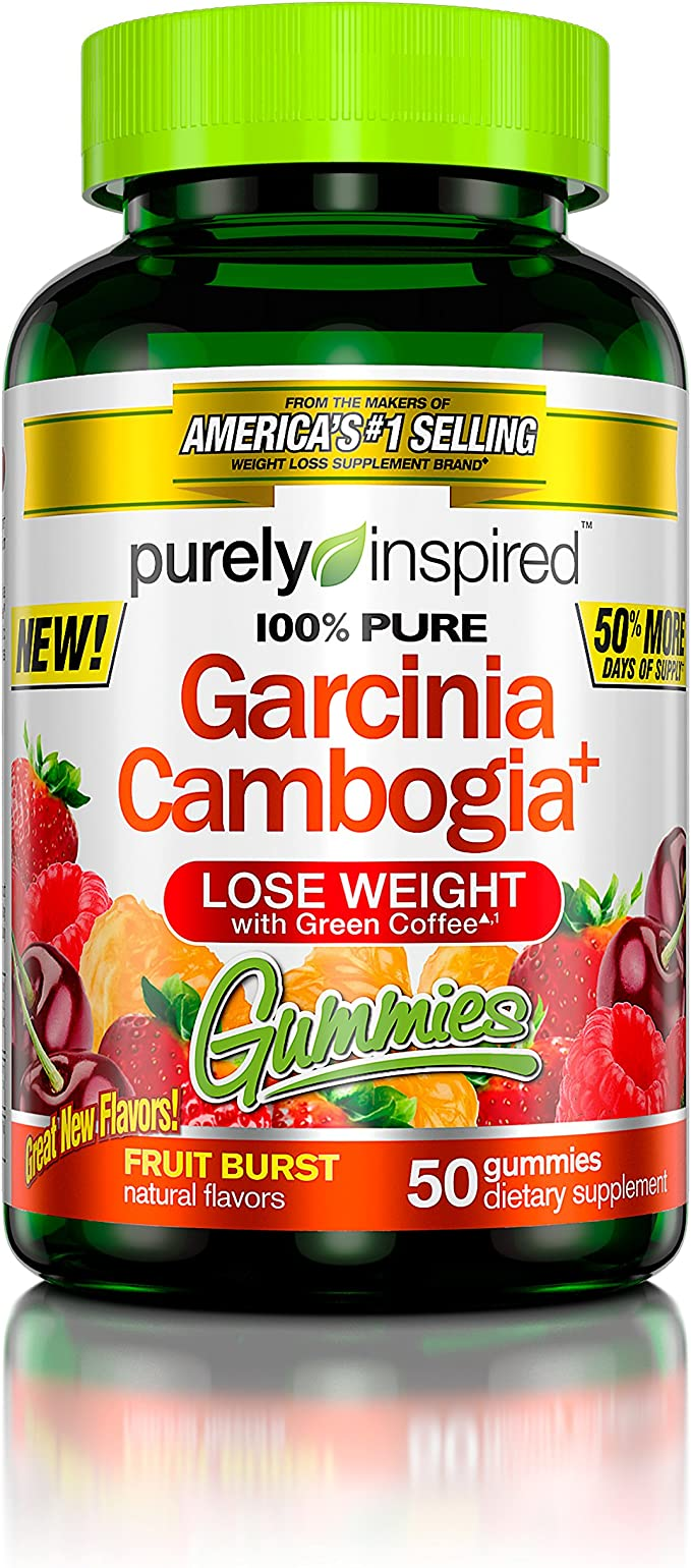Amazon Com 100 Garcinia Cambogia Gummies Weight Loss Supplements With Green Coffee Extract Natural Flavours