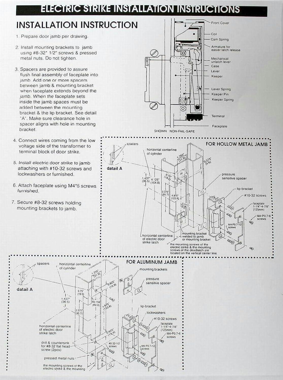 Electric Strike Door Lock Buzzer I 1402a 08 Non Fail Safe 24vdc Wiring Diagram Reversible Us28