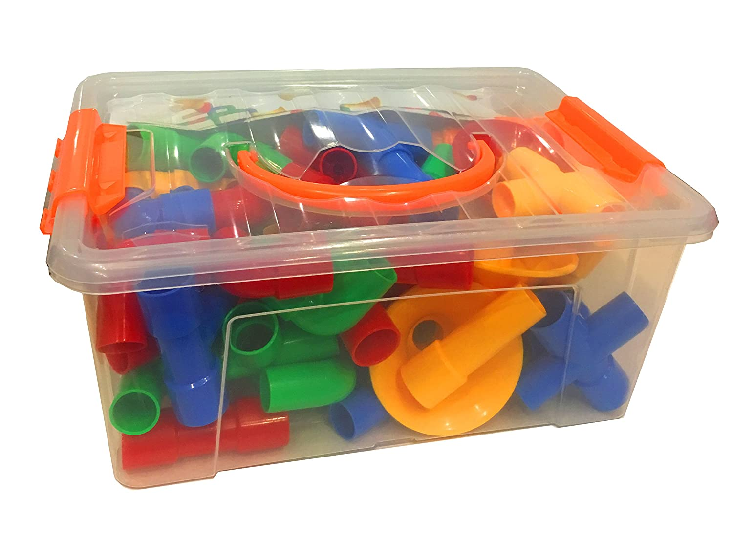 Cheap Educational Toys : Cheap creative tubes 64 pieces stem building toys for boys and
