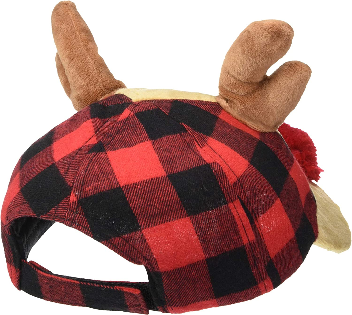 b214b8bc8d3079 Amazon.com: Mud Pie Reindeer Buffalo Check Baby Hat (Toddler), Brown, 2T-5T  (Toddler): Clothing