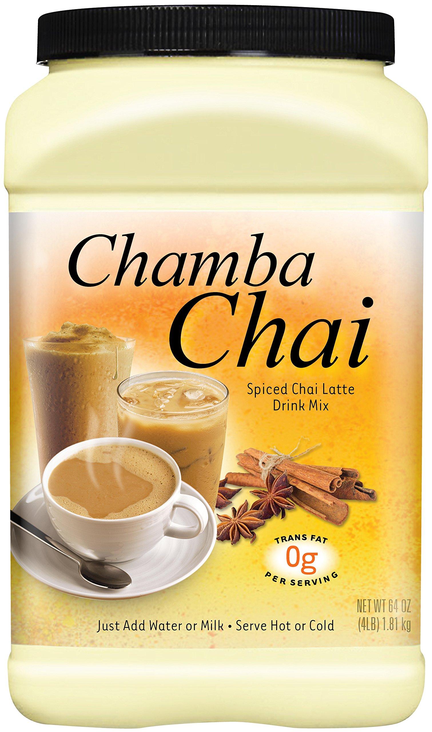 Chamba Chai Spiced Chai Latte Drink Mix, 64 Ounces by Big Train