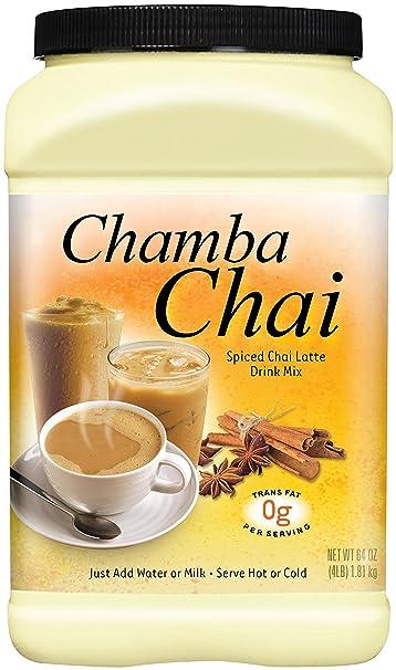 Chamba Chai Spiced Chai Latte Drink Mix, 64 Ounces
