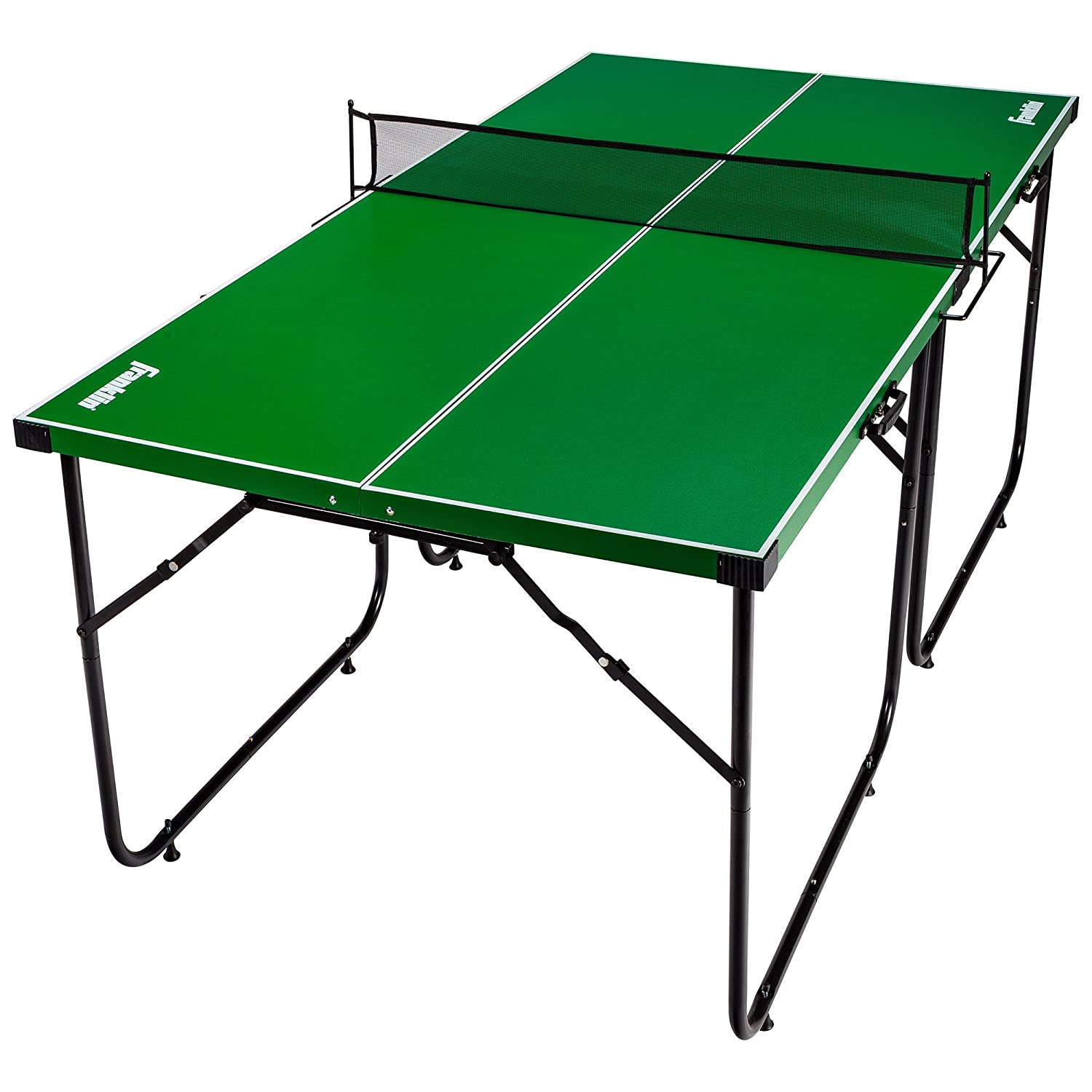 Amazon.com : Franklin Sports Mid Size Table Tennis Table   Ideal For  Smaller Spaces   Space Saving Design : Sports U0026 Outdoors