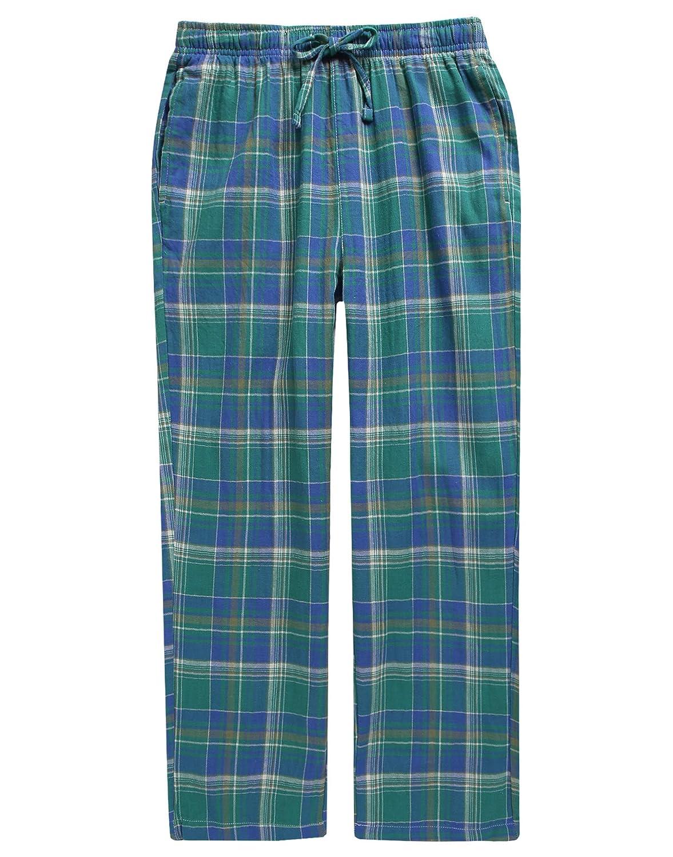 TINFL 10-14 Years Junior Big Boys Girls Unisex Plaid Check Soft Lightweight 100/% Cotton Lounge Pants with Pocket TINFL-BLP02