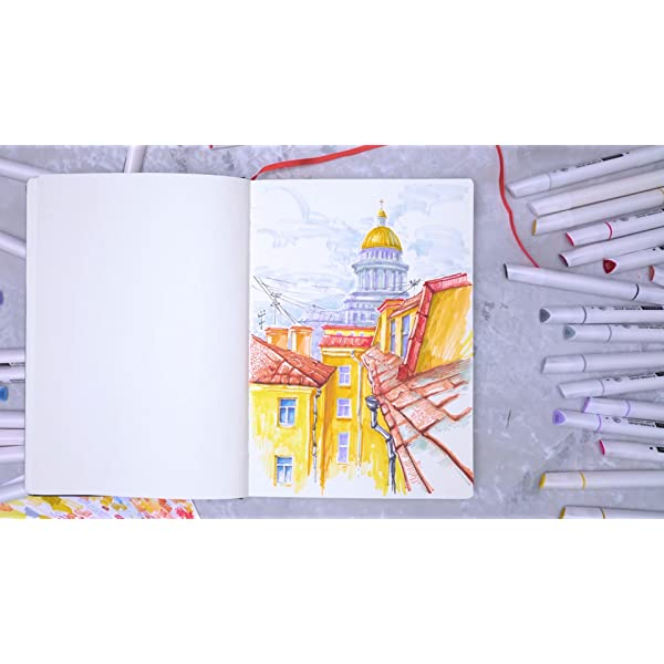 ARTEZA-Everblend-Art-Markers-Set-of-60-Colors-Alcohol-Based-Sketch-Markers-with-Dual-Tips-Fine-and-Broad-Chisel-for-Painting-Coloring-Sketching-and-Drawing-Include-Organizer-Case-with-72-Slots