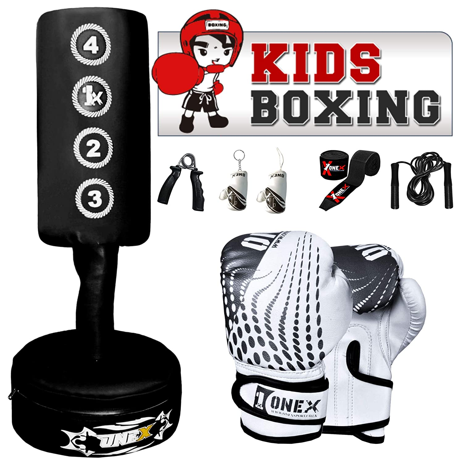 oneX Kids Gift Free Standing Punch Bag MMA Training Target Focus Pad Kick Boxing